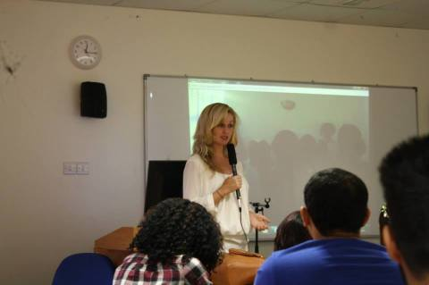 End violence against women presentation in Dubai