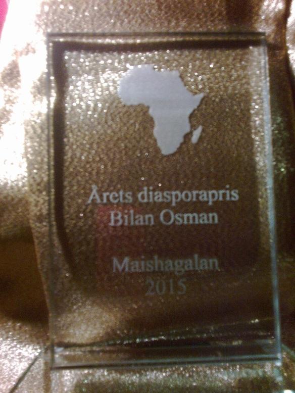 Årets diasporapris Maishagalan 2015