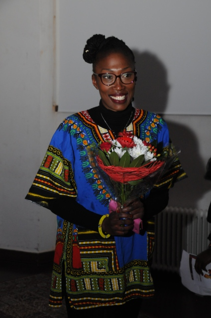 Coura Mbaye representerade Momodou M Jallow © Kulturföreningen Maisha