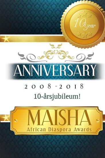 Maisha 10 yr anniversary flyer